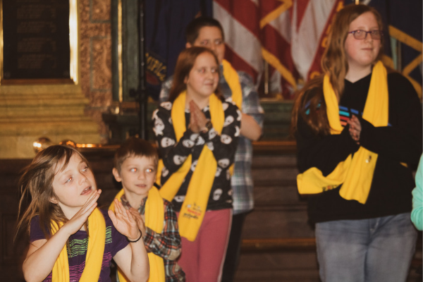 Students from MI charter, private, traditional public and homeschools gathered in the Capitol rotunda to celebrate their school choice.