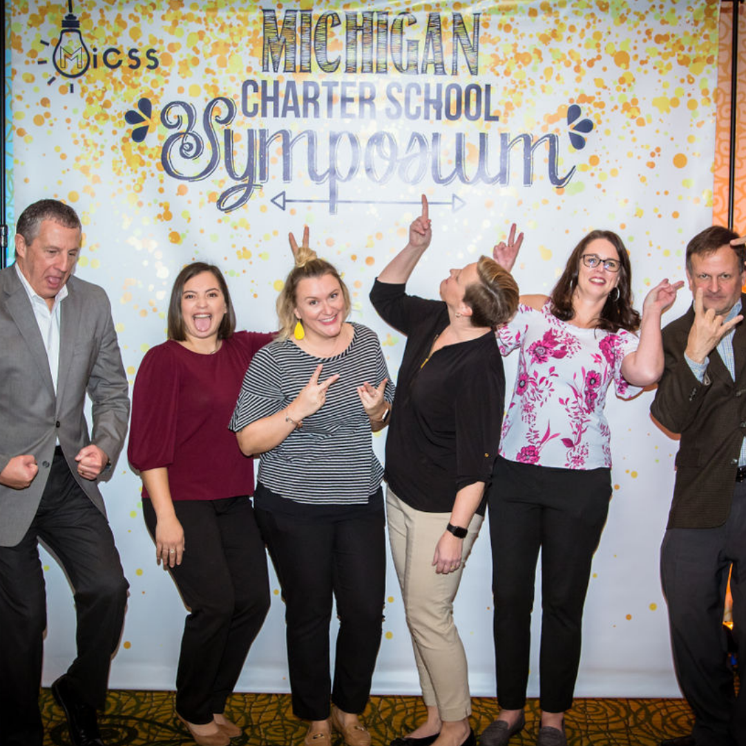 A photo of the MAPSA staff at the 2018 Michigan Charter School Symposium Reception.