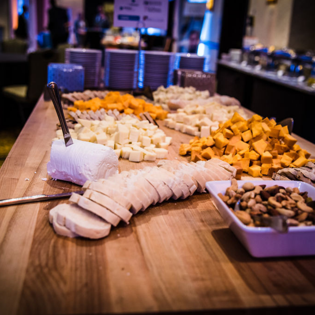A photo of food at the 2018 Michigan Charter School Symposium Reception.
