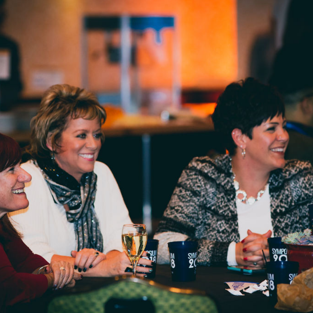 A photo of three ladies at the 2018 Michigan Charter School Reception.