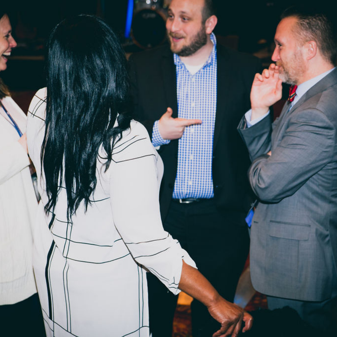 A photo of several professionals at the 2018 Michigan Charter School Symposium Reception.