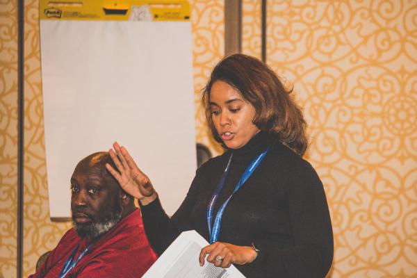 Detroit Voice for School Choice leader and #MiCSS18 parent engagement speaker, Moneak Parker.