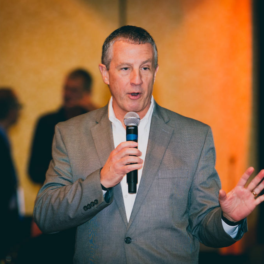 A photo of MAPSA President, Dan Quisenberry, at the 2018 Michigan Charter School Symposium Reception.
