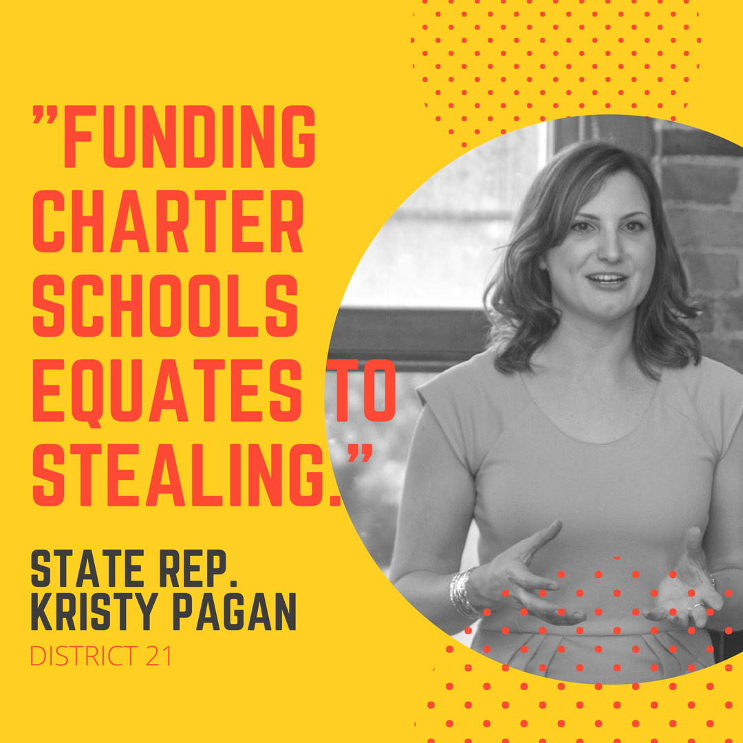 A photo of Michigan State Representative (District 21) Kristy Pagan, with text that reads