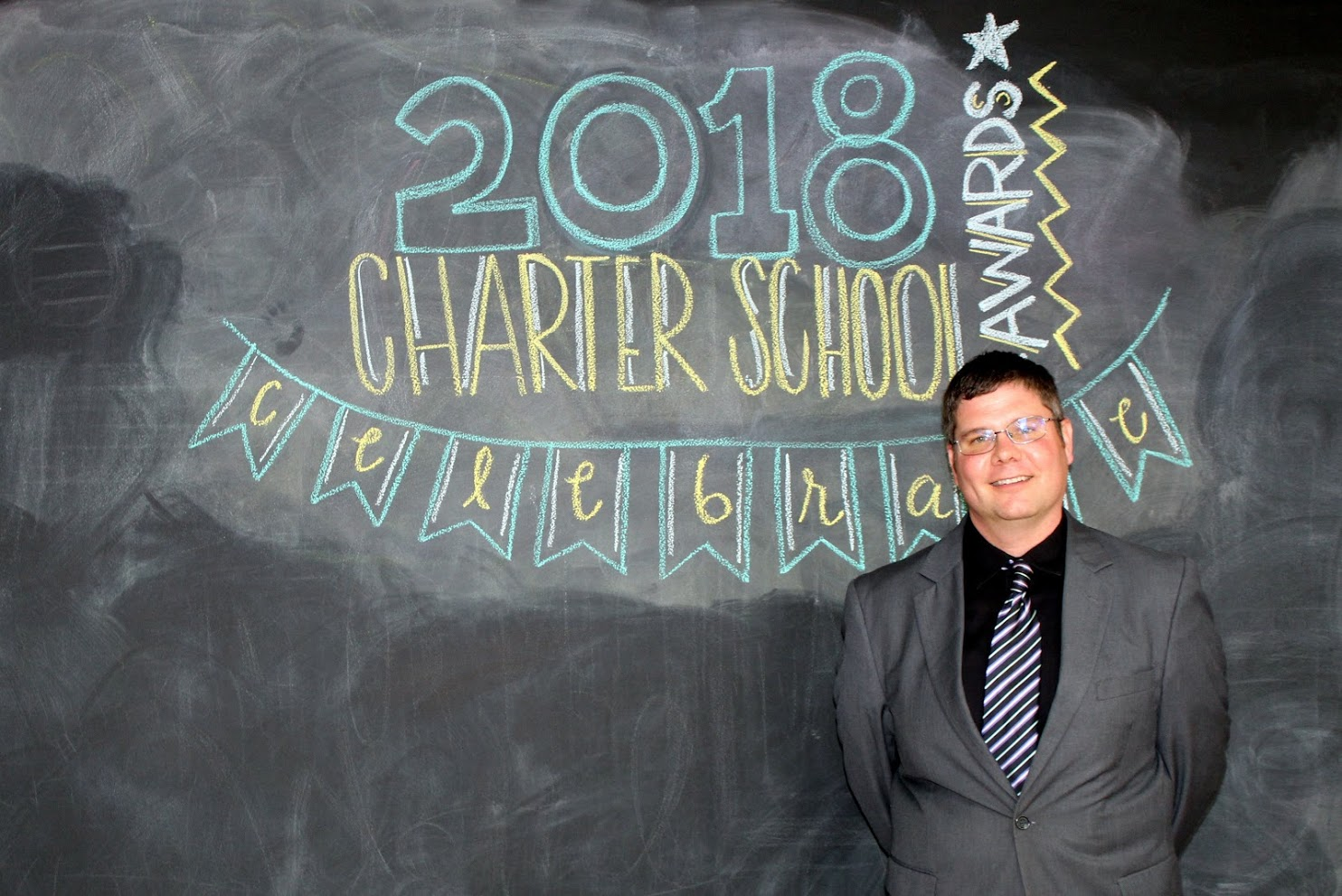 A photo of Shawn Robson, 2018 Charter School Admin of the Year finalist.