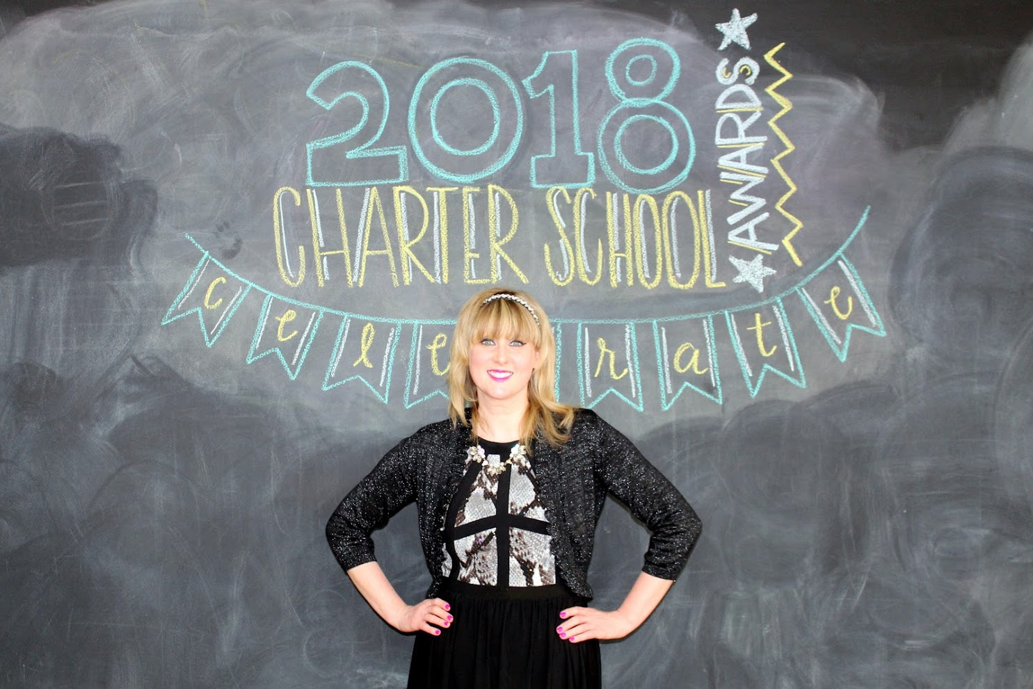 A photo of Kristina Price, 2018 Charter School Teacher of the Year winner.