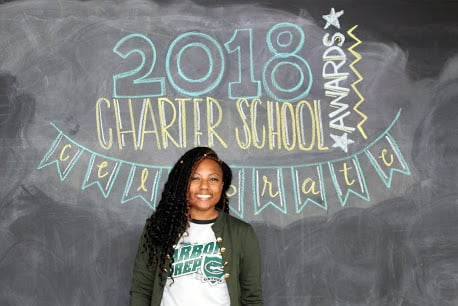 A photo of Aquan Grant, 2018 Charter School Admin of the Year finalist.