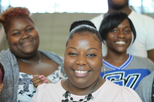 V'Lecea Hunter, charter alumna, who has dedicated her life to advising underrepresented students at GVSU.