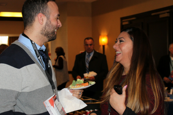 A snapshot of a one of the networking hours at the 2017 Michigan Charter School Symposium.