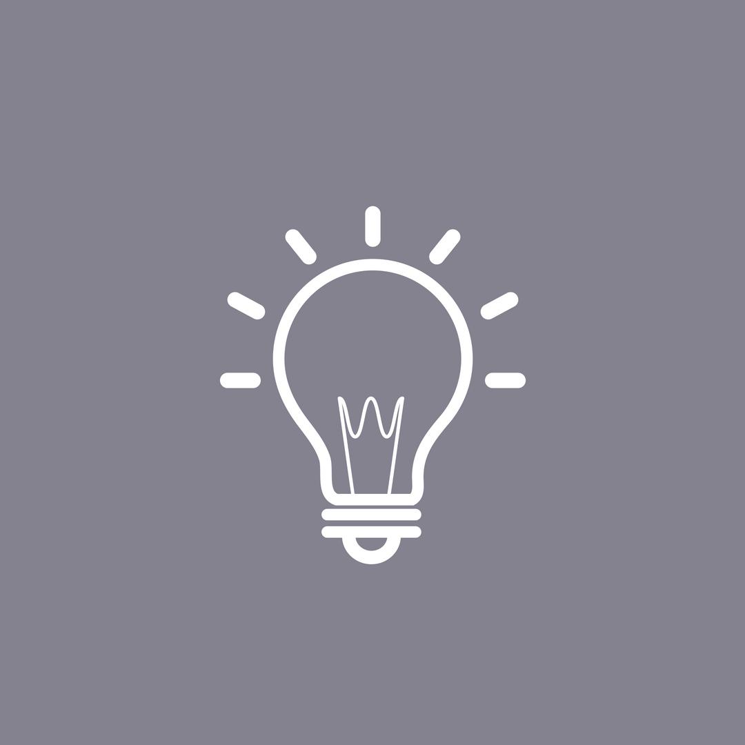 An icon of a lightbulb.