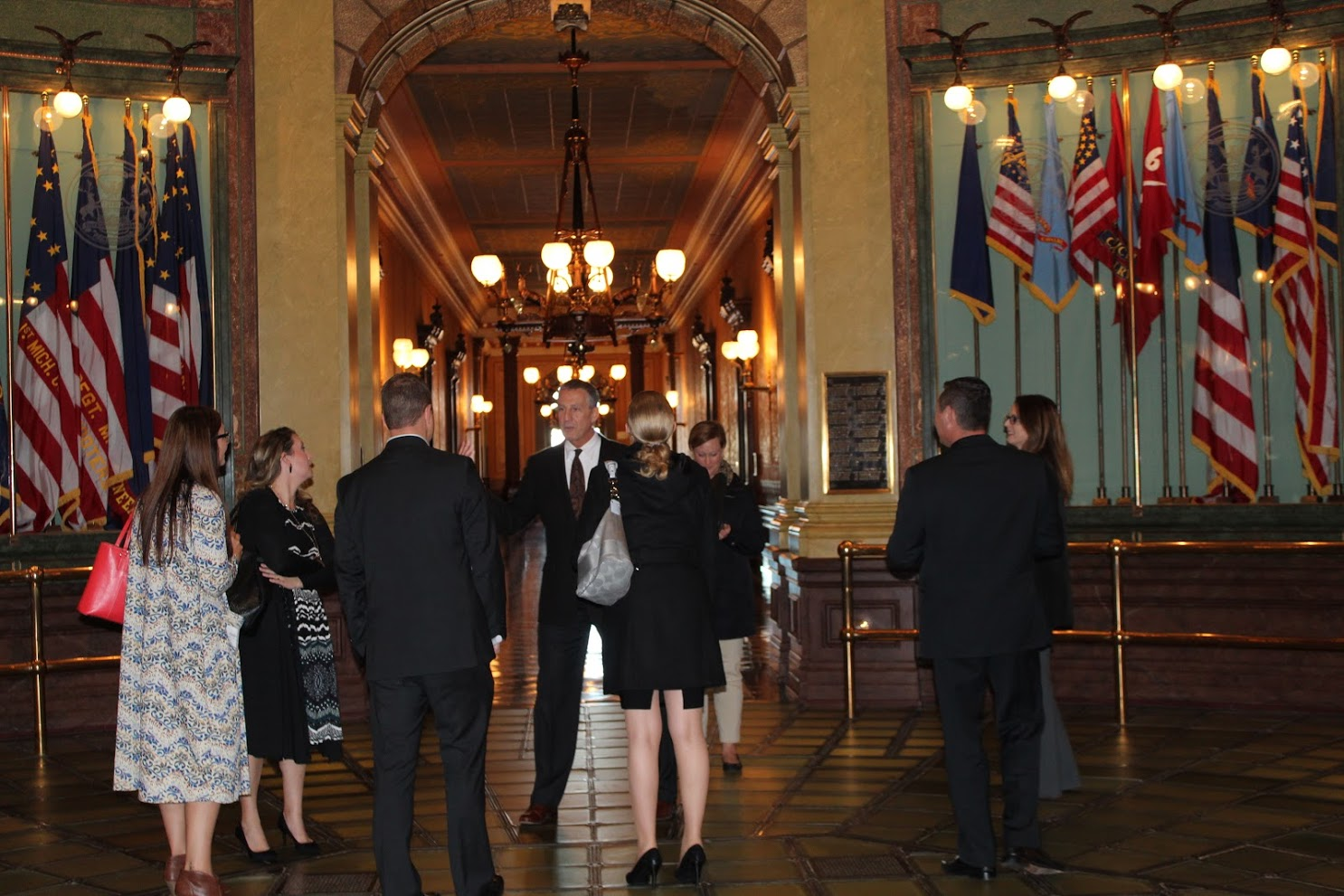 One of the 2018 CMAD groups in the Capitol Rotunda.