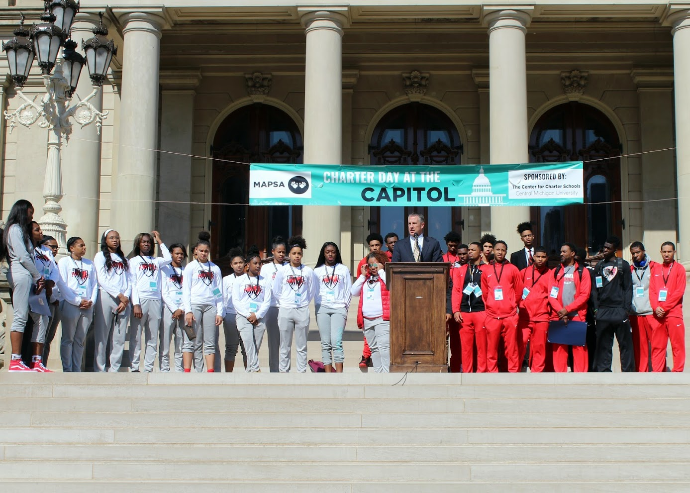 The girls and boys Detroit Edison Public School Academy basketball teams were honored at CDAC '18 for their high success.