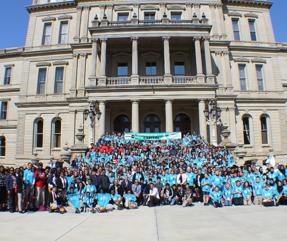 A photo of the 2018 MI Charter Day at the Capitol celebration.