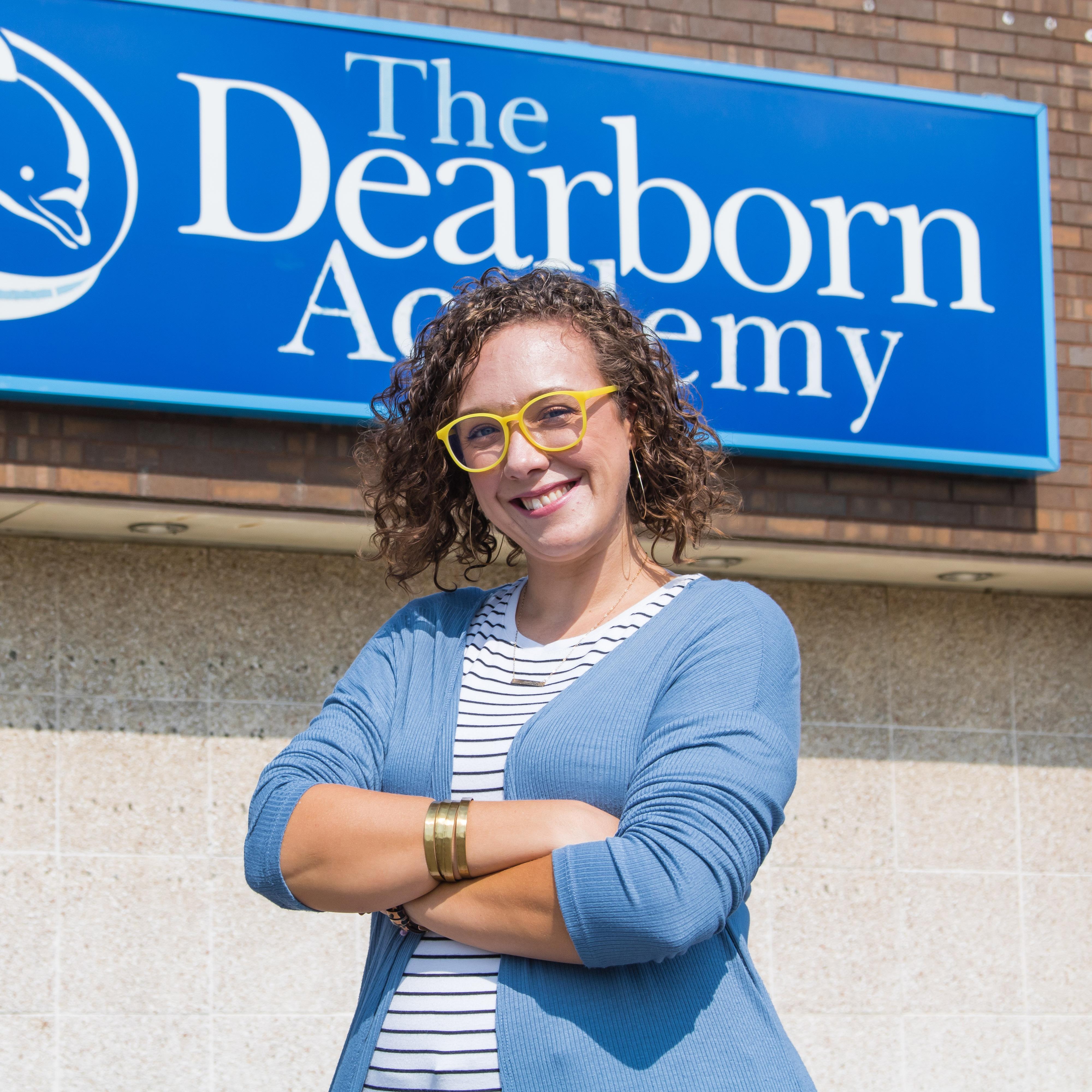 A photo of Dearborn Academy teacher, Caitlyn Vella.