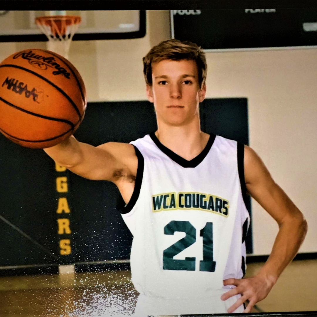 A photo of Gabe Gadwood in his basketball uniform.