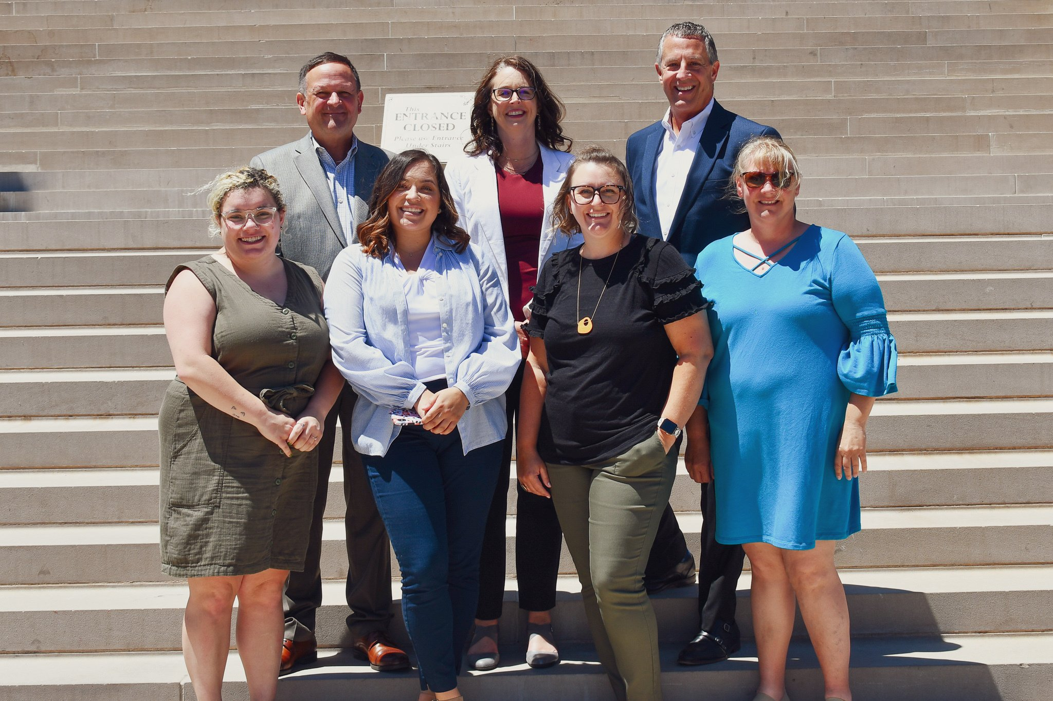 The MAPSA team stands on the Capitol steps.