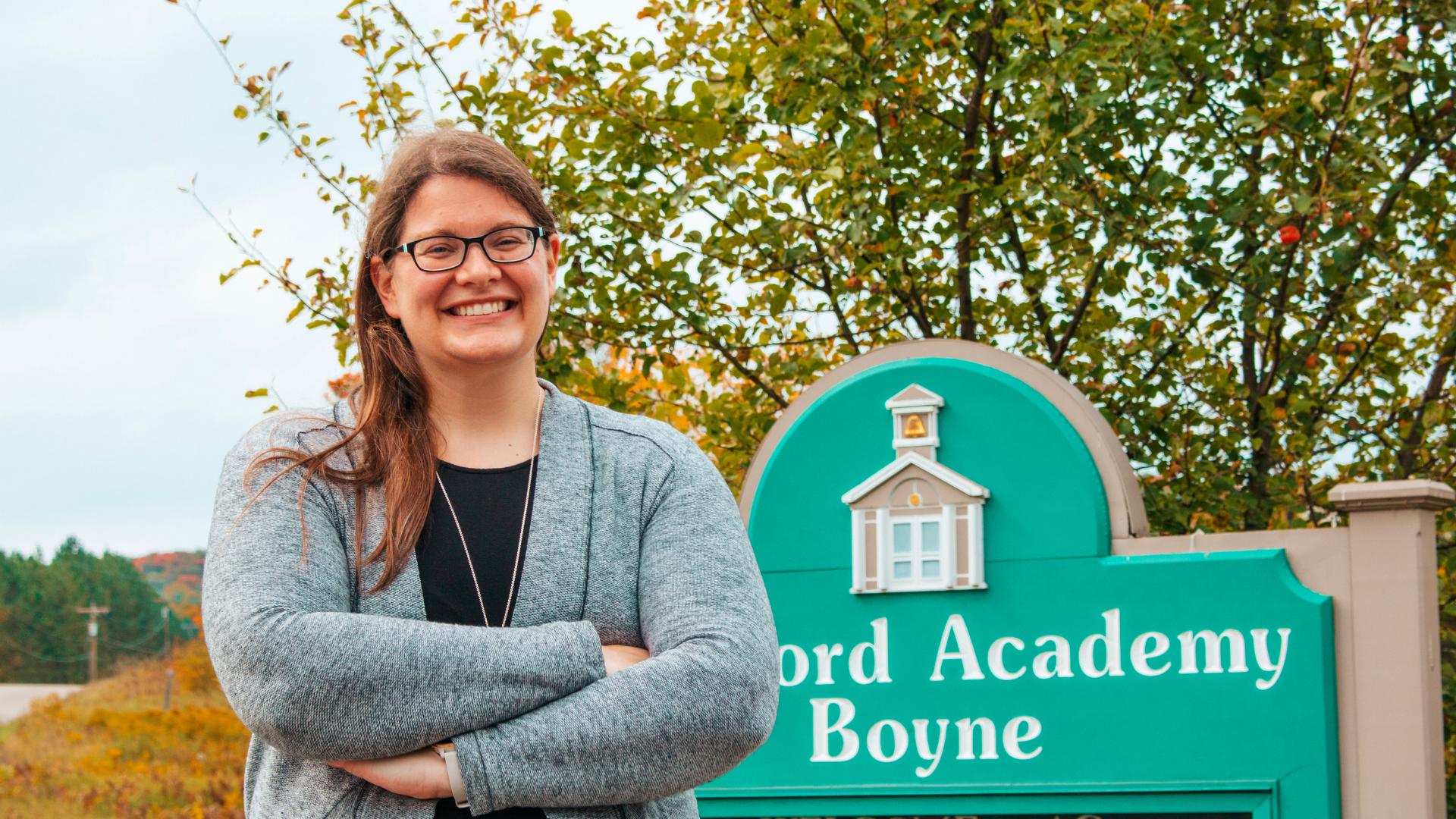 A photo of Concord Academy Boyne teacher, Caitlin Ritter.