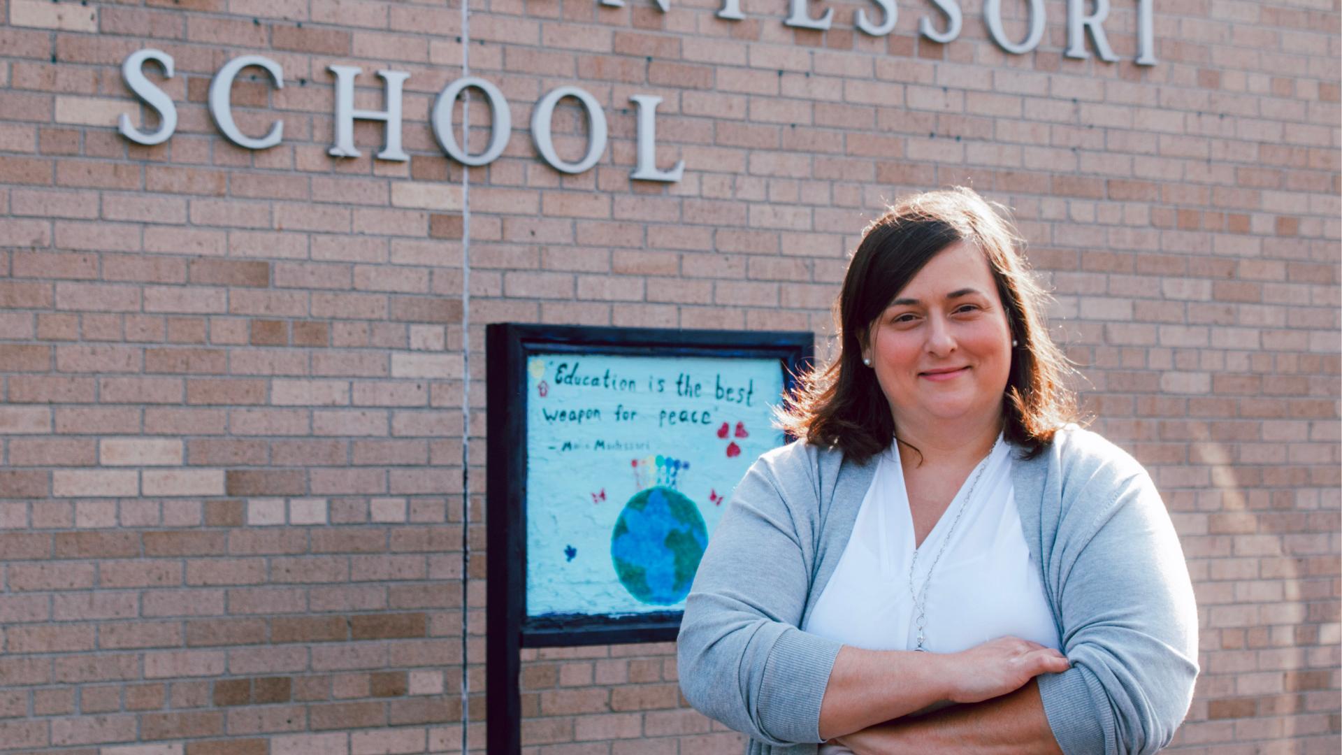 A photo of Mt. Clemens Montessori Academy teacher, Allison Klemm.