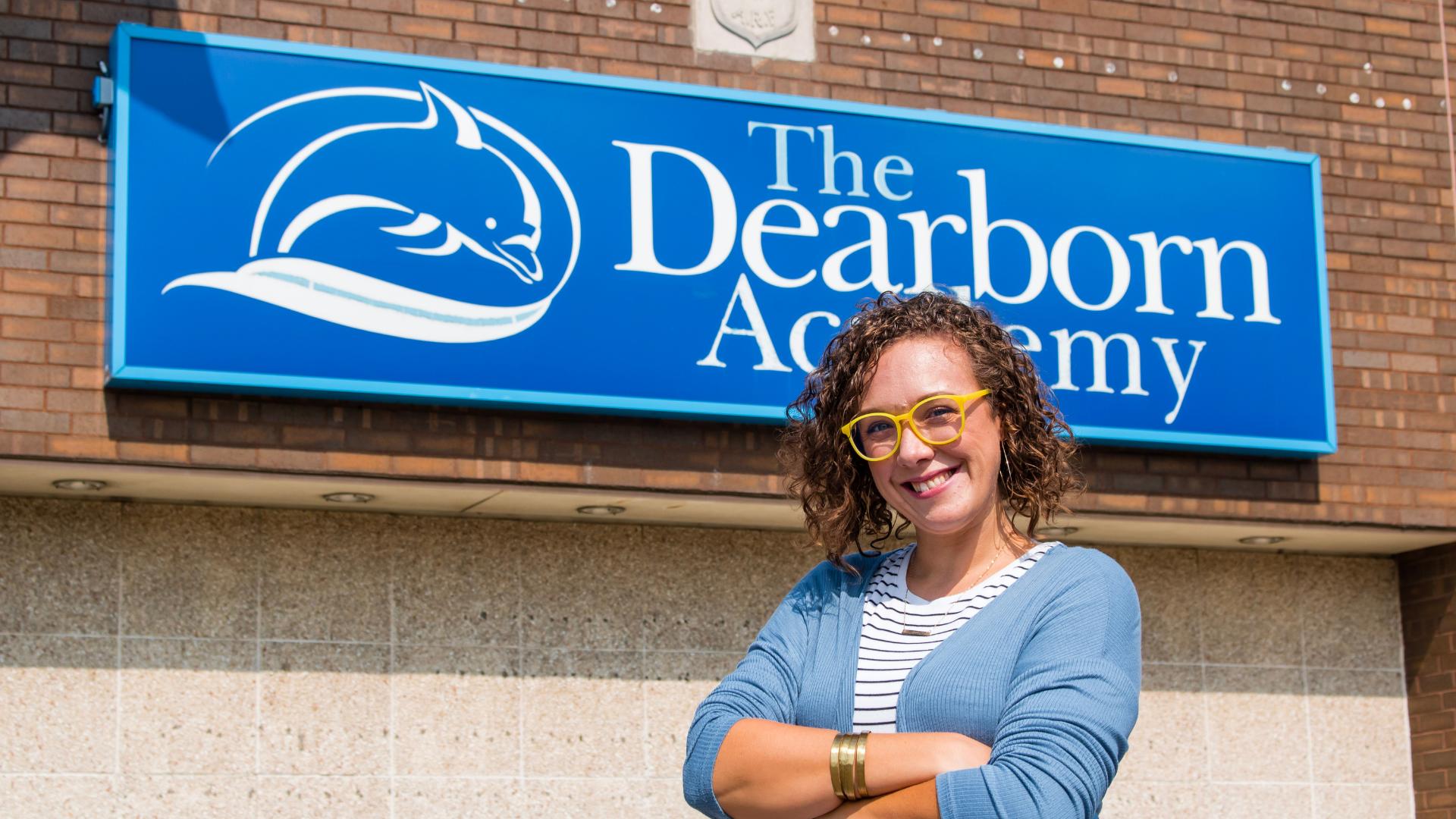 A photo of The Dearborn Academy teacher, Caitlyn Vella.
