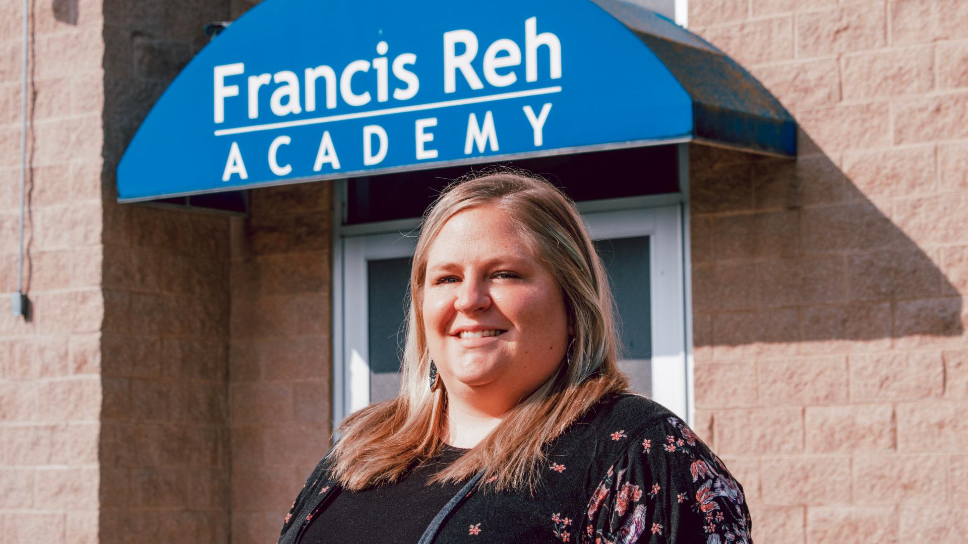 A photo of Francis Reh Academy teacher, Erin Fought.